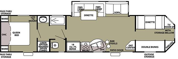 2 Bedroom 5Th Wheel Floor Plans submited images